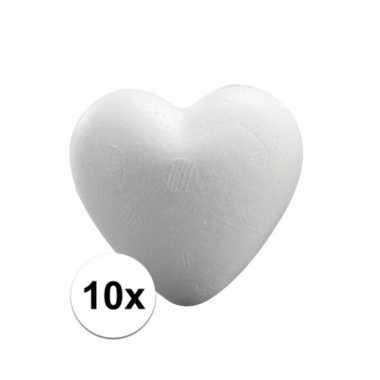 10x piepschuim hartjes van 5 cm