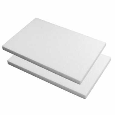10x stuks piepschuim knutsel plaat platen van 20 x 30 x 2 cm