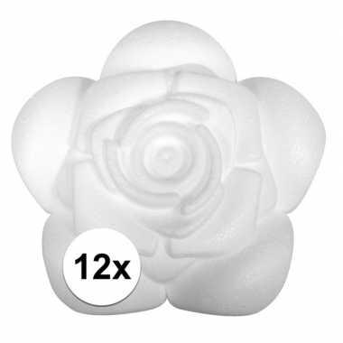 12x piepschuim rozen 11,5 cm