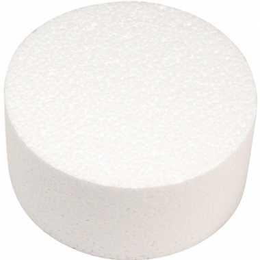 1x piepschuim vorm ronde schijf/schijven 10 x 7 cm hobby/knutselmateriaal