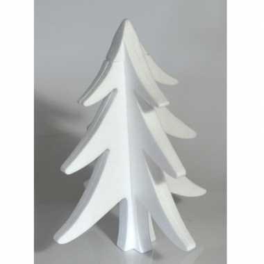 20x hobby/diy piepschuim kerstboom 30 cm kerstdecoratie