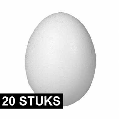 20x piepschuim figuren eieren van 12 cm