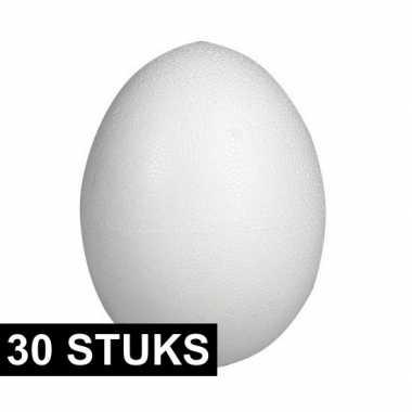 30x piepschuim vormen eieren van 8 cm