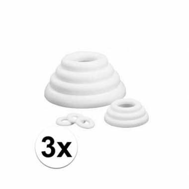 3x piepschuim vlakke ringen 30 cm