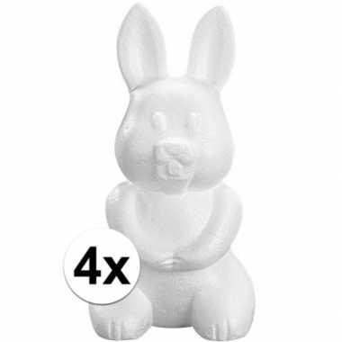 4x piepschuim haas/konijn 23 cm