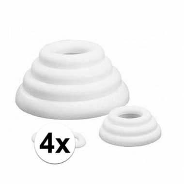 4x piepschuim vlakke ringen 30 cm