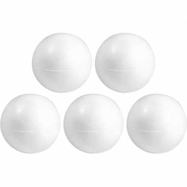 50x hobby/diy holle piepschuim bal/bol 20 cm halve schalen