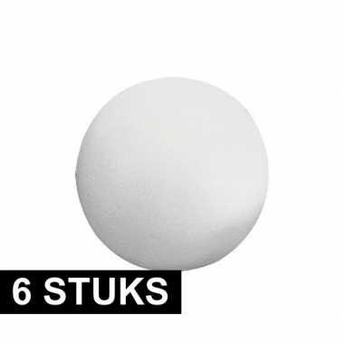 6x piepschuim ballen figuren vormen van 12 cm