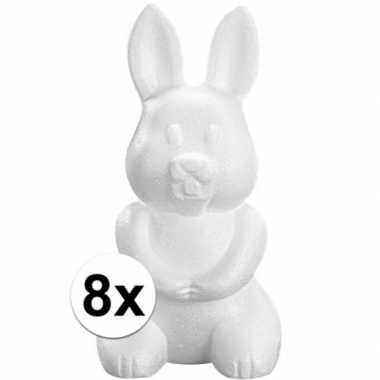 8x piepschuim haas/konijn 23 cm