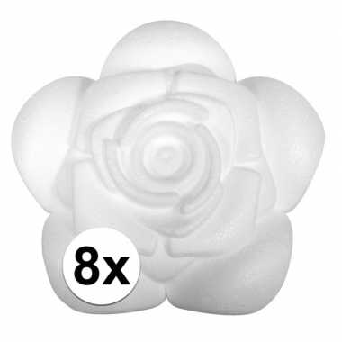 8x piepschuim rozen 11,5 cm