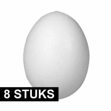 8x piepschuim vormen eieren van 8 cm