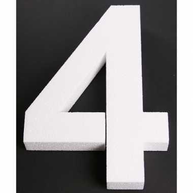 Piepschuim 4 cijfer 25 cm