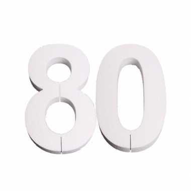 Piepschuim 80 cijfer 25 cm