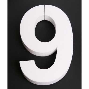 Piepschuim 9 cijfer 25 cm