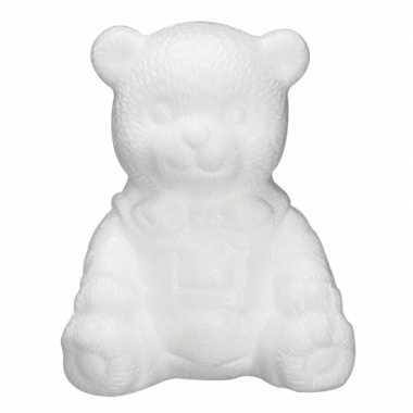 Piepschuim beer zittend 16 cm