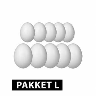 Piepschuim eieren pakket 10 stuks groot