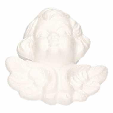 Piepschuim engel hoofd 12 cm