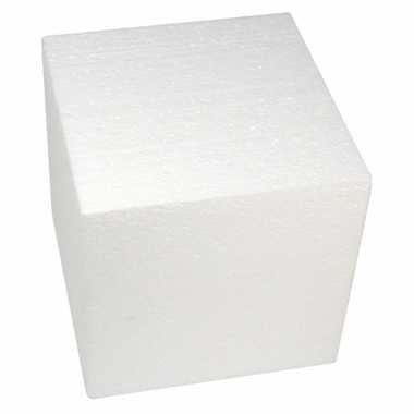 Piepschuim kubus 20 cm