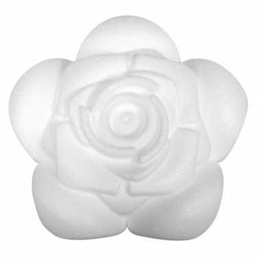 Piepschuim roos 11,5 cm