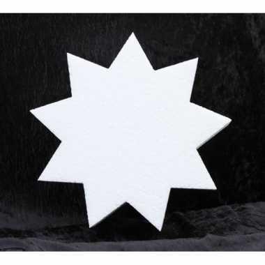 Piepschuim vorm 9-punts ster 5 cm