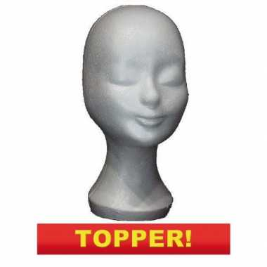 Voordelig piepschuim hoofd 30 cm