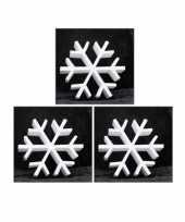 3x piepschuim vormen ijskristal 20 cm hobby knutselmateriaal